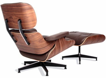 Eames Lounge Chair,  by Charles and Ray Eames, was introduced in 1956