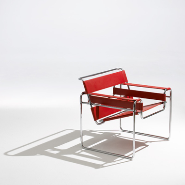 Wassily chair by Marcel Breuer, also called the Model B3 chair