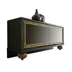 Kaath Credenza 016 Antique Gold Leaf Bla