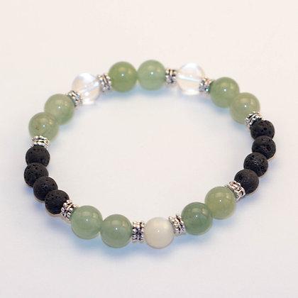 Green Aventurine & Clear Quartz Bracelet