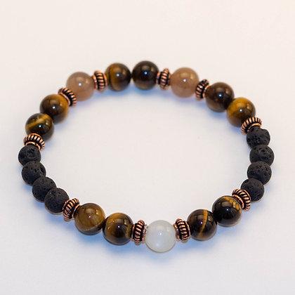 Tiger Eye & Moonstone Bracelet