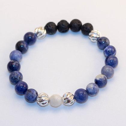 Sodalite & Sterling Silver Bracelet