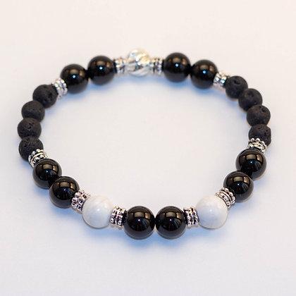 Black Tourmaline & White Howlite Bracelet
