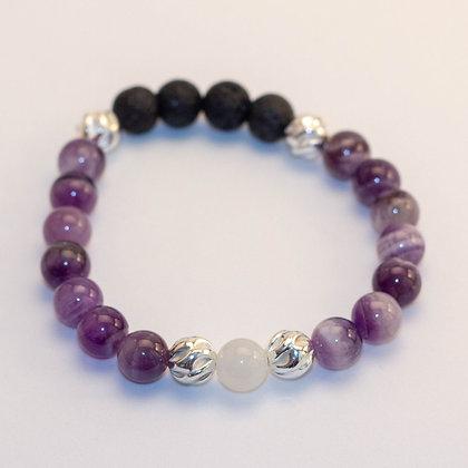 Amethyst & Sterling Silver Bracelet
