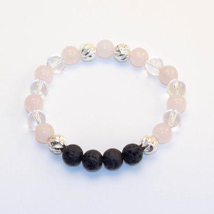 Rose Quartz & Clear Quartz Bracelet
