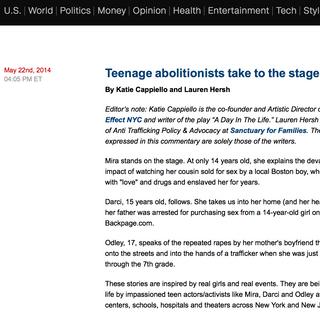CNN Freedom Project article by Lauren Hersh & Katie Cappiello