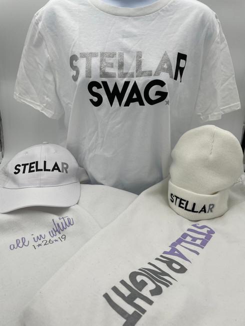 STELLAr in white for Stella