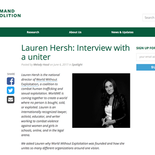 Demand Abolition with Lauren Hersh