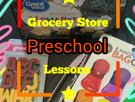 Grocery Store Preschool Lessons: ABCs Part 1