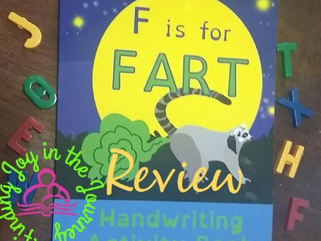 F is for Fart: Handwriting and Letter Recognition