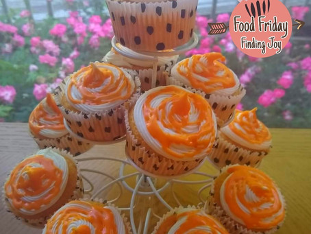 "Orange ""Cheater"" Cupcakes"