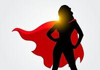 vector-illustration-female-superhero-sil