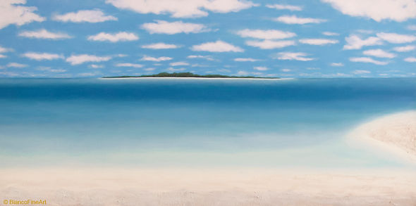 Bianco Fine Art, fine art painting, beach scene, cuba, island, holiday, caribbean, paradise, cayo rico, acrylic