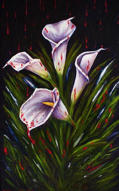 calla lily, calla lillies, alla prima, family, unity, flowers, fine art, oil painting, sustainable art, Jessica Bianco artist
