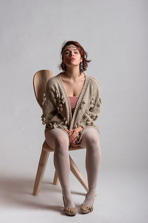 Alpaca's Wool Vest (Beige)
