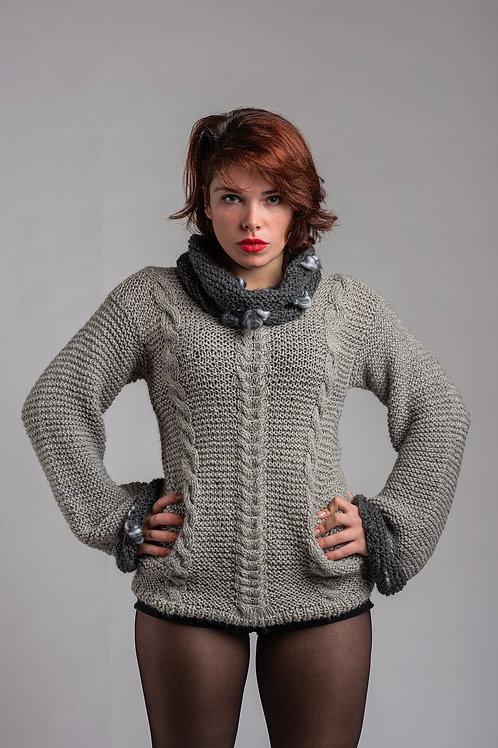 Alpaca's Wool Sweater (Gray)