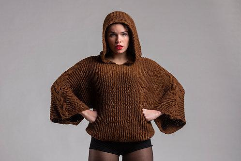 Alapaca's Wool Cap Sweater (Brown)