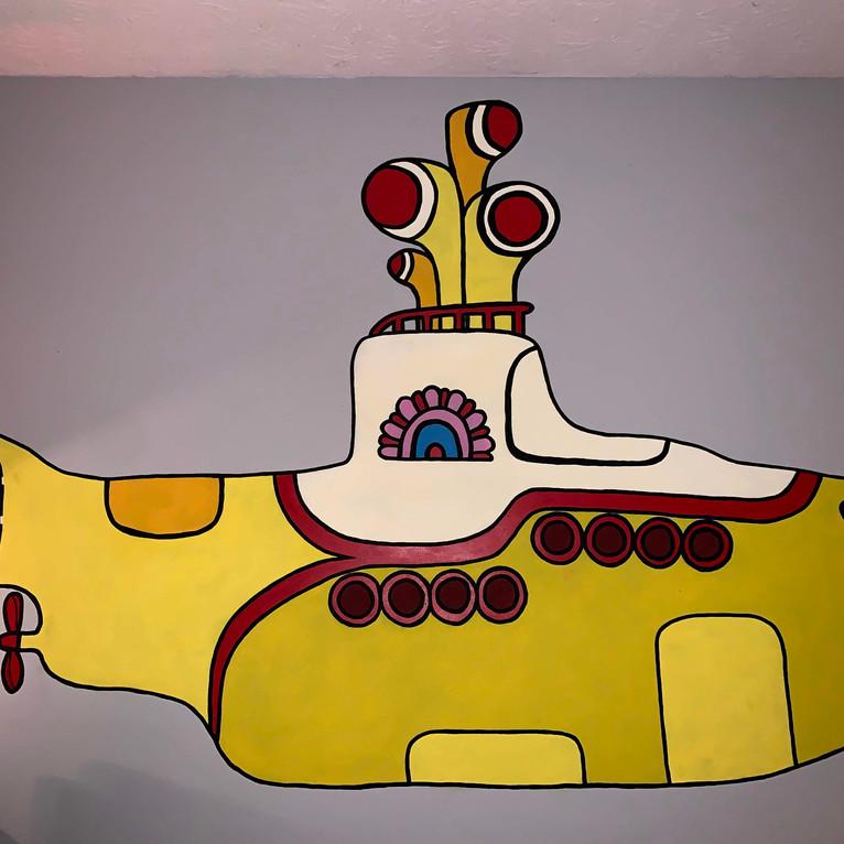 Yellow Submarine Mural