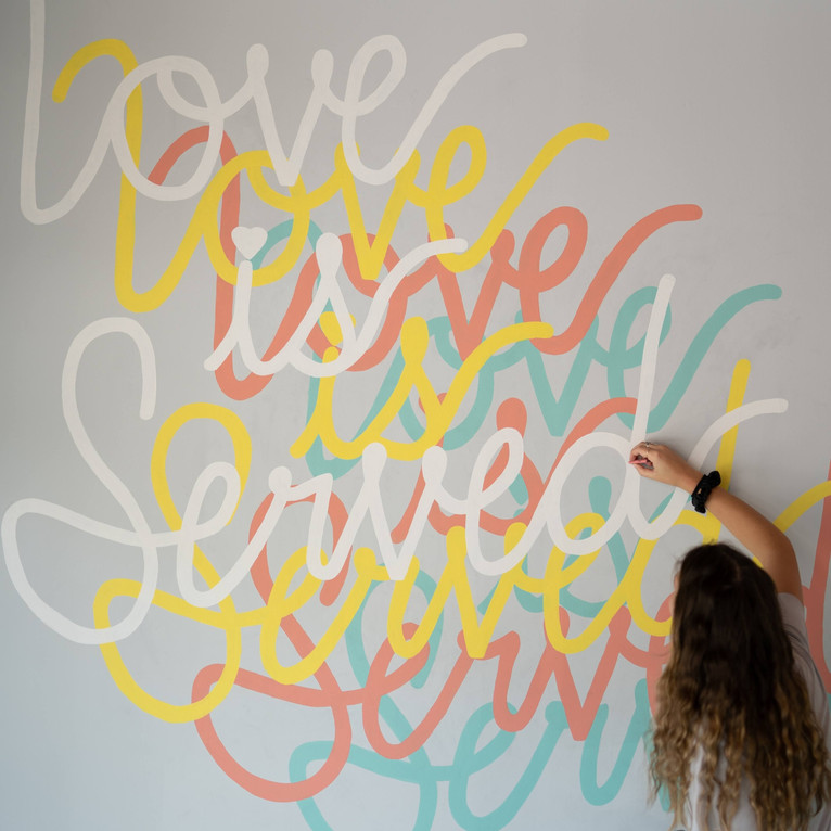 Love is Served Mural