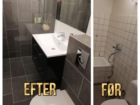 New bathroom vs old