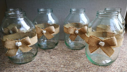 large hessian bow jars