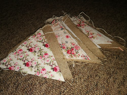 Hessian/Floral Bunting