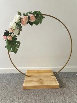 Gold cake hoop
