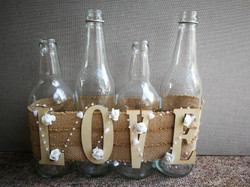 LOVE bottle display