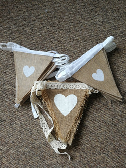 Heart Hessian Bunting