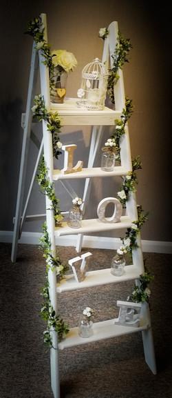 5ft white vintage ladder