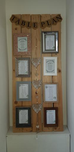 Rustic frame table plan