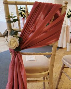 dusky pink drape