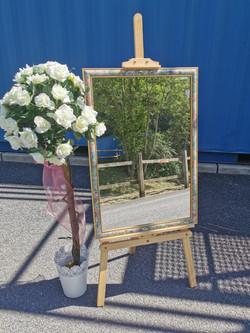 Vintage floral framed mirror