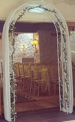 Floral bridal arch