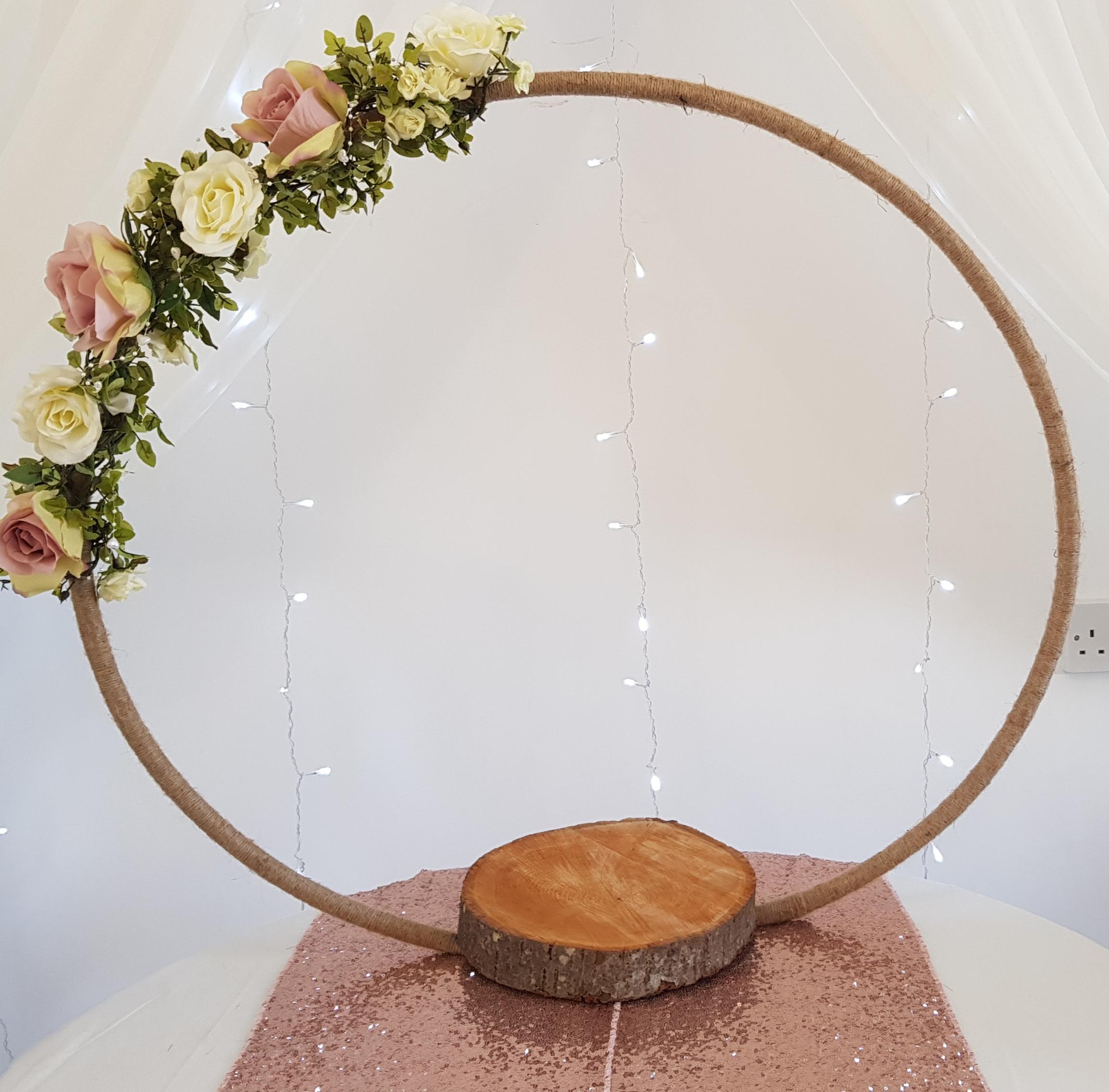 rustic cake hoop