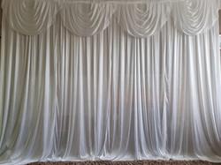 White Silk Sparkle Backdrop