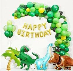 Jurassic themed balloon setup