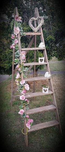 6ft Wooden vintage ladder