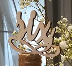 Wooden script table  numbers
