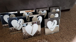 Mirror Heart table numbers