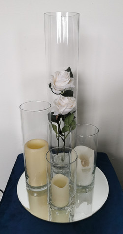 example of cylinder vases with our 50cm tall lily vases