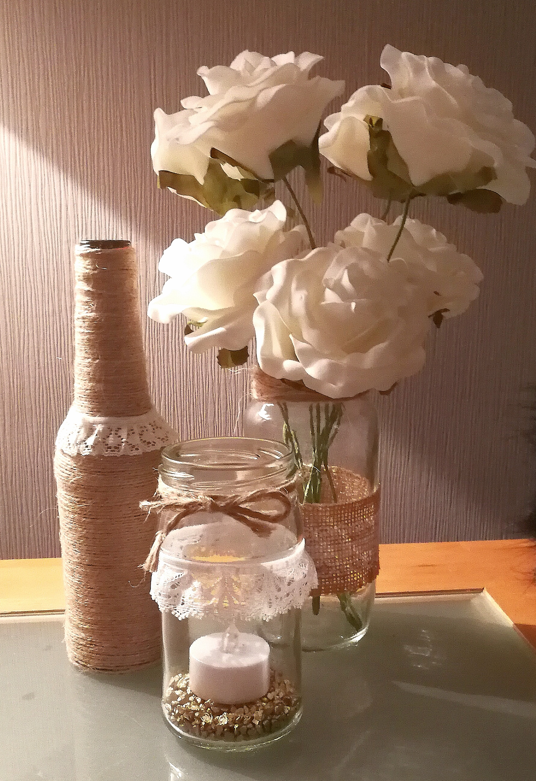 Hessian Jars & bottles