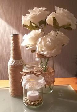 Hessian Jars & bottles