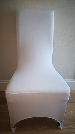 Arch front chair covers - white