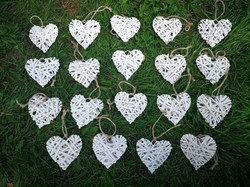 Mini Wicker Hearts