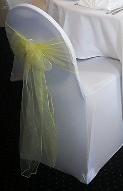 Chair cover with sash