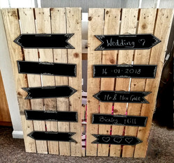Chalk board arrows pallet