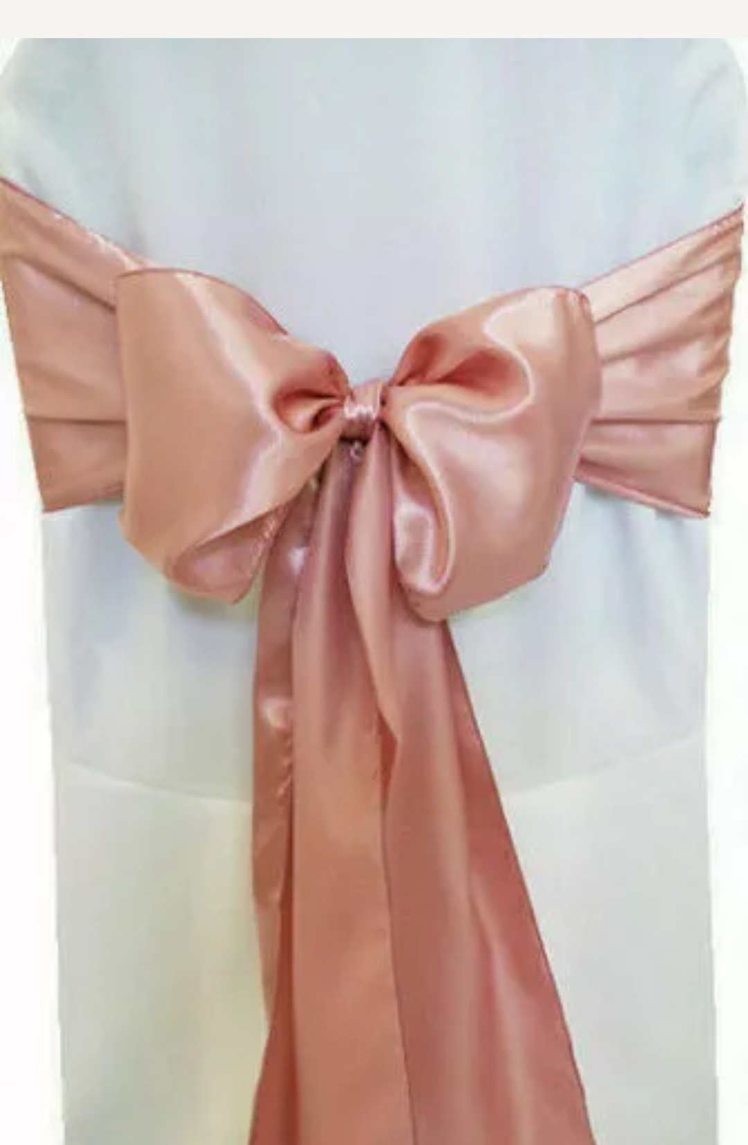 rose gold satin sash