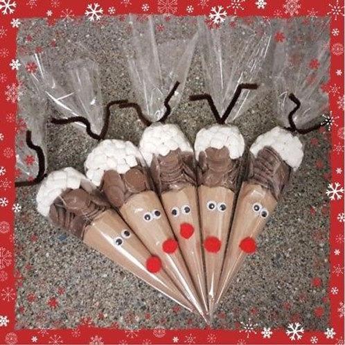 hot chocolate cones