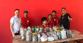 Projeto do Rio Sucuri arrecada 550 kg de material reciclável e leva crianças para conhecer atrativo